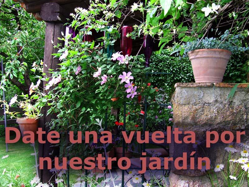 flores en el jardín de las casas rurales