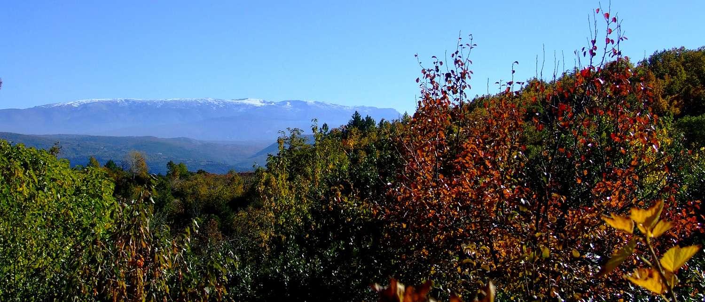 vistas desde las casas rurales sobre la Sierra de Candelario