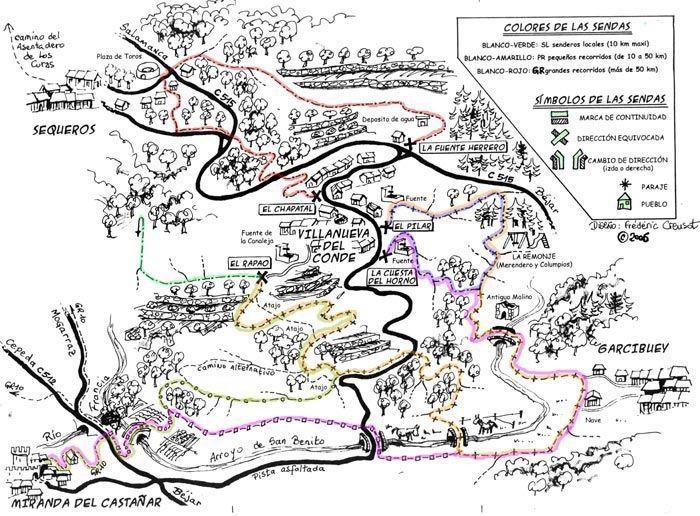 plano de senderos de villanueva del conde