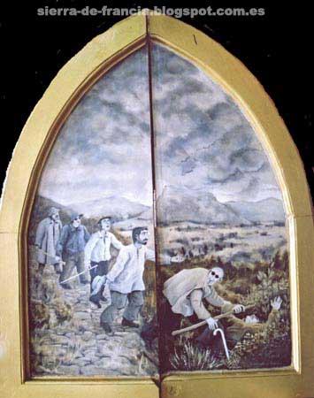 triptico de la ermita de santa lucia, sequeros