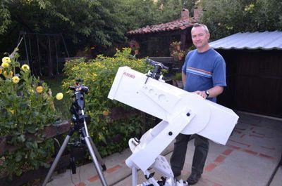 Fred e seu telescópio Albireo