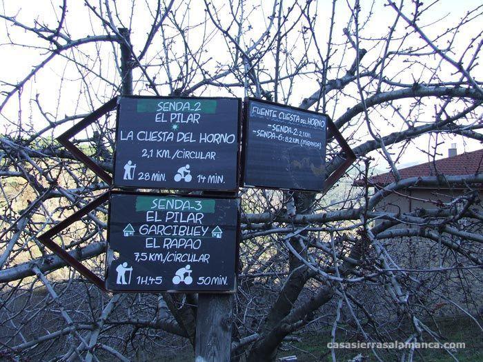 postes de senderos-Villanueva Del conde