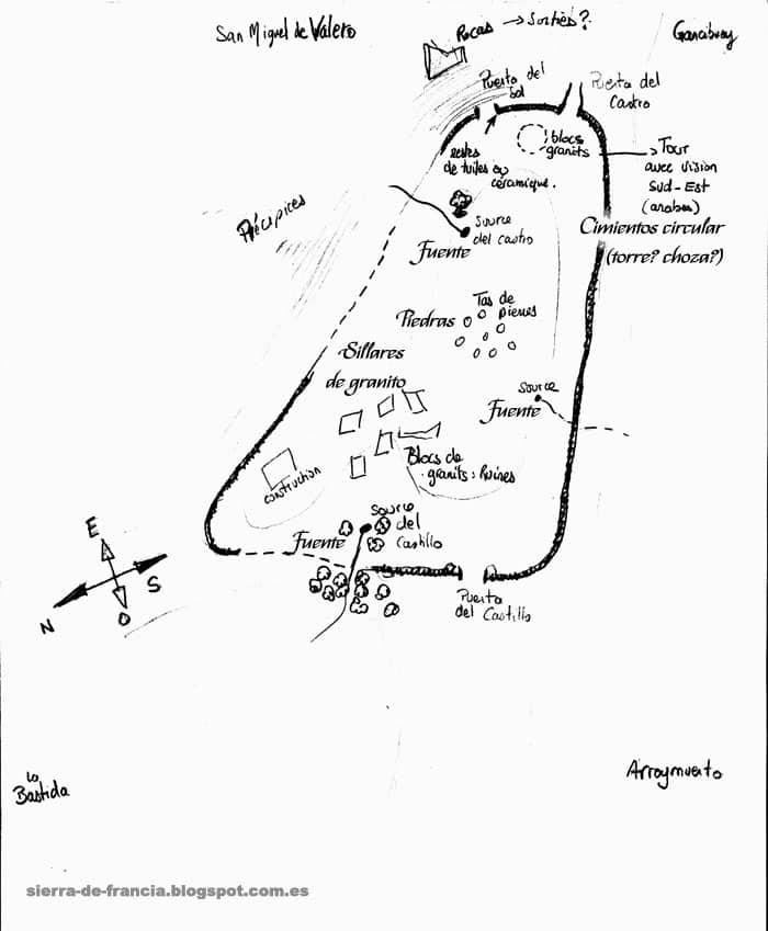 plano castillo viejo de valero