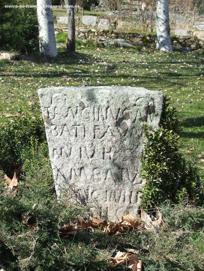 estela romana de san martín del castañar