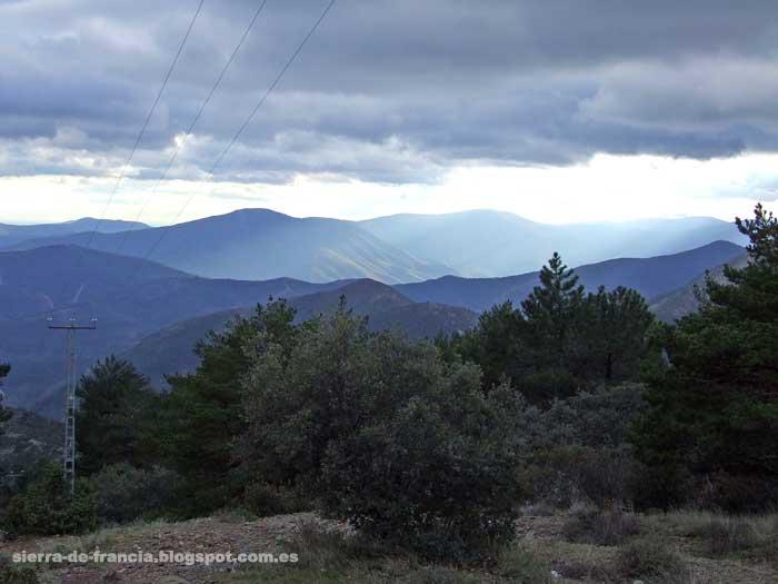 vista de los montes hurdanos