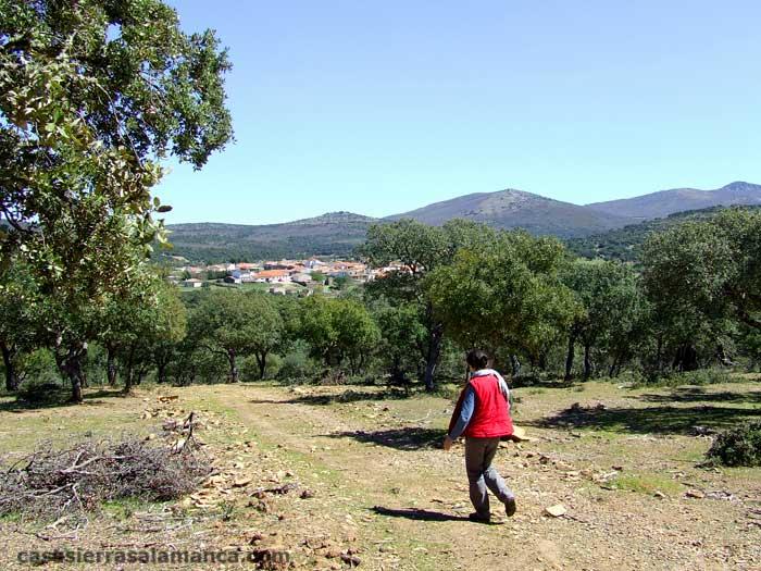 vista de Aldeanueva de la Sierra, pequeño pueblo de salamanca