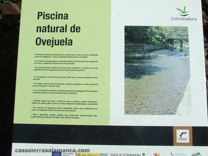 piscina natural de Ovejuela