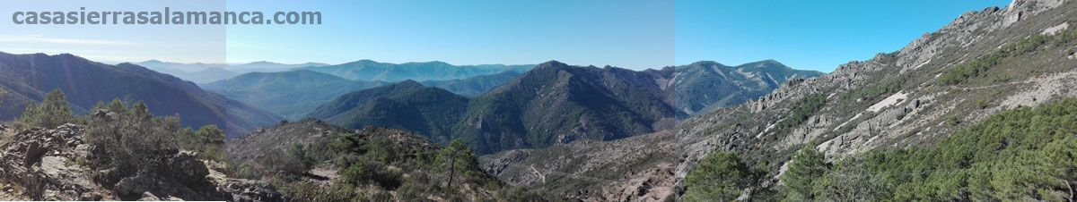 vista panorámica del valle de las batuecas