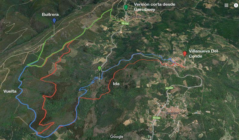 mapa ruta buitrera garcibuey