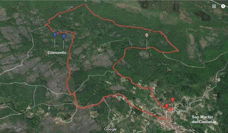 mapa de la ruta al convento de gracia en san martin