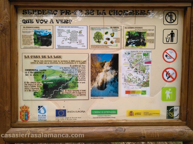 panel informativo cascada hervas