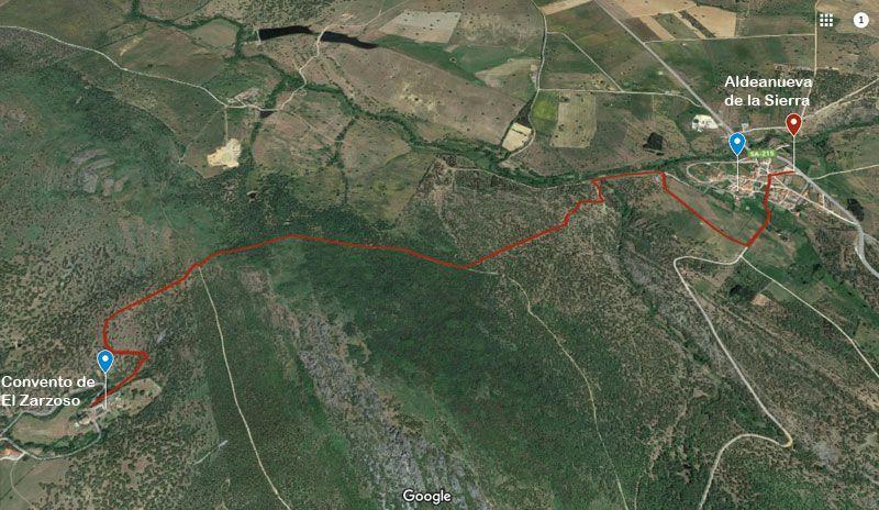 mapa ruta del zarzoso